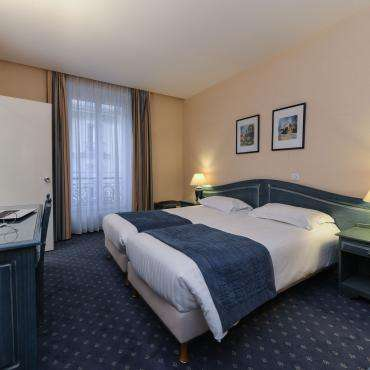 Hôtel du Pré - Doppelzimmer mit getrennten Betten