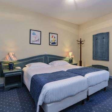 Hôtel du Pré - Zimmer für drei Personen mit drei einzelen Betten